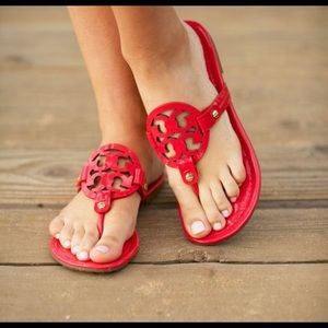 Red Tory Burch sandals Really good condition